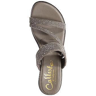 Callisto Womens Raya Embellished Wedge Sandals