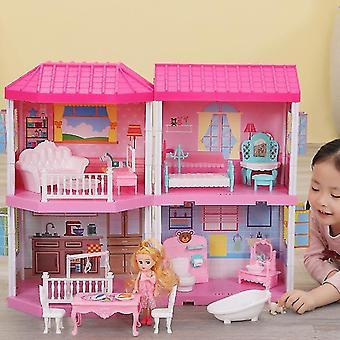 Diy Cottage Pretinde Joaca Doll House, cadou pentru copii mici