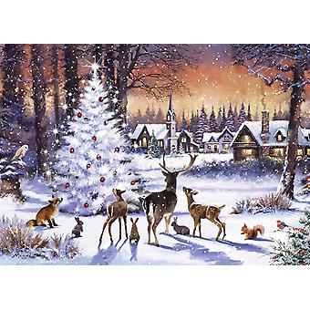 Otter House Christmas Gathering Jigsaw Puzzle (1000 Pieces)