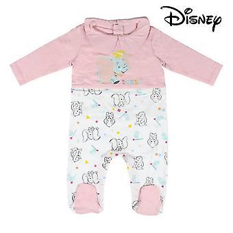Baby's Langarm Strampler Anzug Dumbo Disney Pink