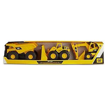 Автомобильный игровой набор Желтый пластик 18 см (3 шт)
