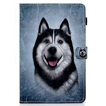 Case For Ipad 7 10.2 2019 Cover With Auto Sleep/wake Pattern Magnetic - Husky Dog