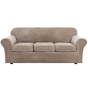 Housse de canapé luxe Canapé en velours épais Slipcover pour canapé coussin 1/2/3