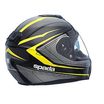 Spada SP16 Monarch Full Face Street Motorcykel Hjälm Svart Vit