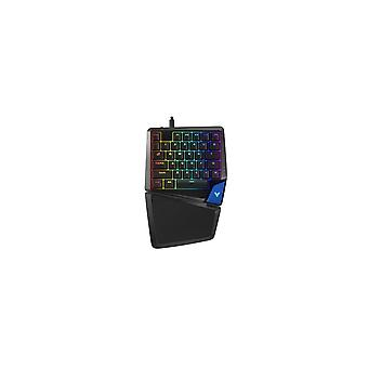 V550 Wired Mechanical Keyboard Blue Switch Single-hand Gaming Keyboard with RGB LED Backlight Full