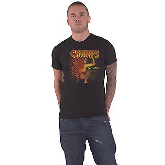 The Cramps T Shirt Stay Sick Band Logo new Official Mens Black