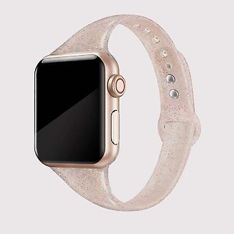 Блестящий светящийся бронзовый ремешок для яблочных часов 42/44 мм