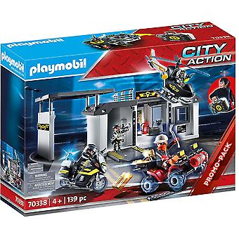 70338 City Action Take Along Tactical Unit Headquarters 139PC Playset