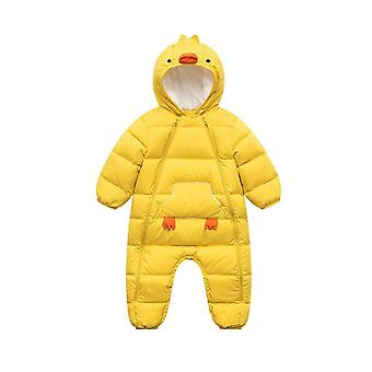 Baby One-piece Down Romper Yellow Baby Romper For Boy And Girl Baby Winter Clothes  Toddler Girl Clothes