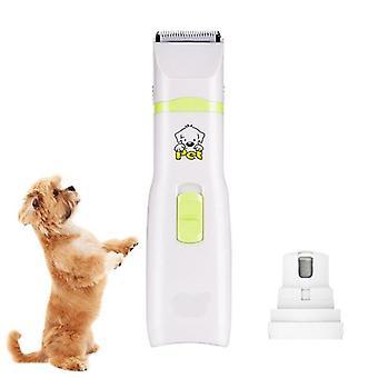 2 v 1 Pet Machine Pes Kočka Zastřihovač vlasů Batter Powered Pets Clippers Broušení nehtů Zastřihovač vlasů