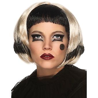 LADY GAGA Black Blonde 2-Tone Costume Women Wig