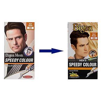 Bigen Men's Speedy Colour Dark Brown #103
