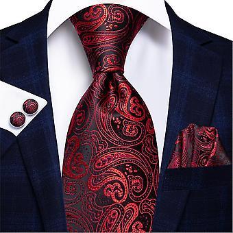 Ensemble cravate italienne 100% soie pour hommes, 8,5 cm (C-314)