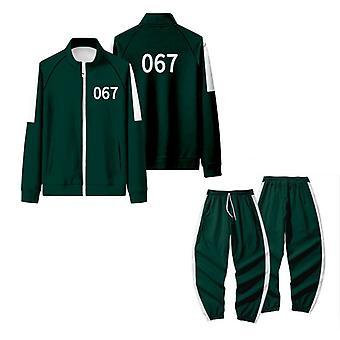 Halloween Squid Game Sportswear Cosplay Costume Dark Green No.067
