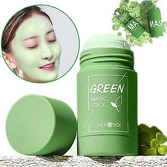 Green Tea Mask Solid Face Cleansing Mask Stick Oil Control Moisturizing Mud Mask