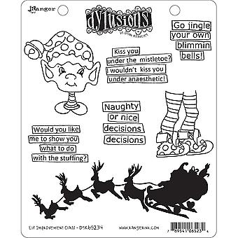 """Dyan Reaveley's Dylusions Cling Stamp Collections 8.5""""X7"""" - Christmas Elf Improvement Class"""