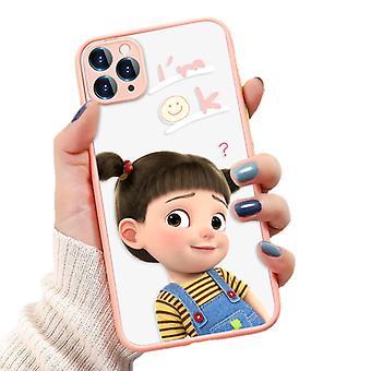 Funny Girl maalattu puhelinkotelo Iphone X / xs All-inclusive Puhelinkotelo (o140 Vaaleanpunainen)