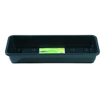 Narrow Garden Tray Black Without Holes Planting Gardening