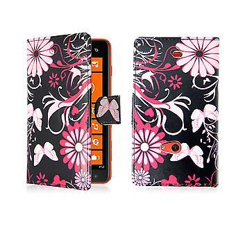 Design book PU leather case cover for Nokia Lumia 625 - Gerbera