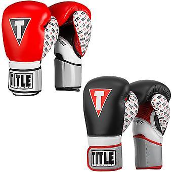 Titel boksen geïnfundeerd schuim wraak haak en lus trainings-handschoenen