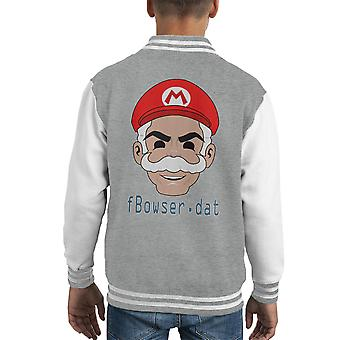Mr Mario Fsociety maska Mr Robot Kid's uniwerek kurtka