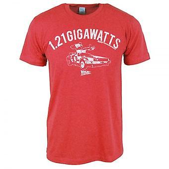 Вернуться к будущей Мужская обратно в будущее 1,21 ГВт T рубашки Красного