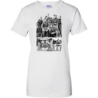 RAF Foto Collage WW2 - slaget om Storbritannia inspirerte - damer T skjorte