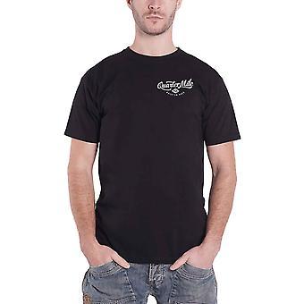 Official Mens Quarter Mile T Shirt Methanol logo built to race new Black