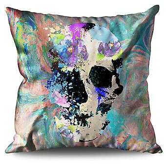 Skull Colorful Linen Cushion 30cm x 30cm | Wellcoda