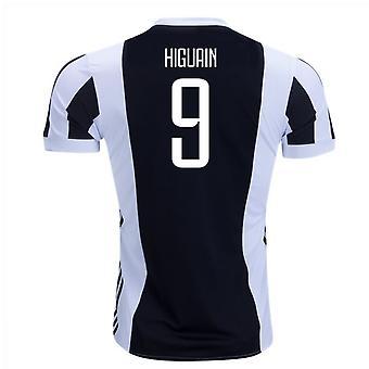 2017-18 Juventus hem skjorta (Higuaín 9) - barn