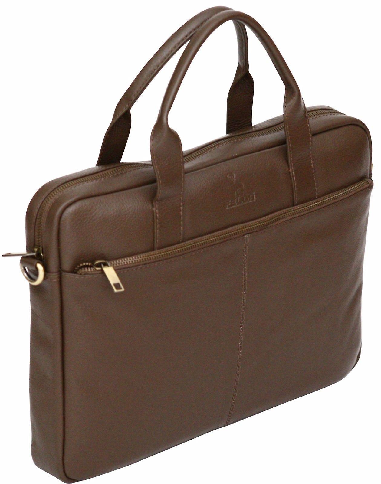 Genuine Pebble Leather 15.6