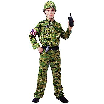 Army Infantry Military Soldier 8 Pce Dress Up Boys Costume