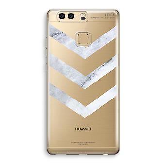 Huawei P9 gjennomsiktig sak (myk) - marmor piler