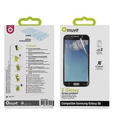 Original EO-EG900B Samsung InEar headset in white and black with 2 x Samsung Galaxy S6 screen protector