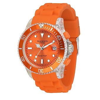 Candy keer door Madison N.Y.. watch unisex U4399-04-1 oranje Flash