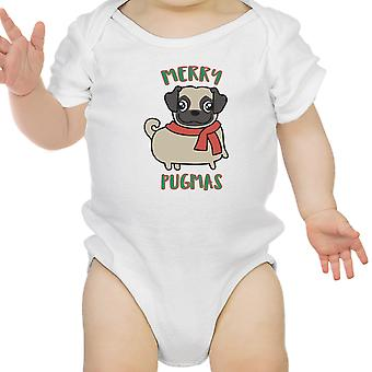 Веселые Pugmas Pug Baby Bodysuit Смешные Рождественские подарки baby Одежда
