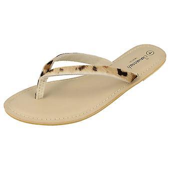 Hyvät Savannah nahka Toe Post sandaalit L6063