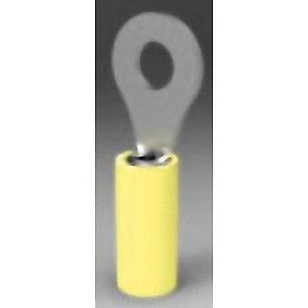 TE Connectivity 35110 Ring terminal tvärsnitt (max.) = 6.604 mm² hål Ø = 6,35 mm delvis isolerade gul 1 dator