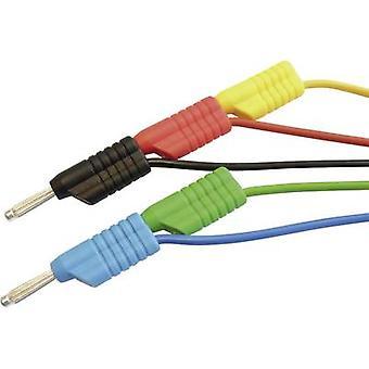 VOLTCRAFT MS 4100S lood testkit [banaan jack 4 mm - banaan jack 4 mm] 1 m rood, zwart, blauw, groen, geel