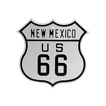 Route 66 New Mexico Heavyweight vormige stalen teken