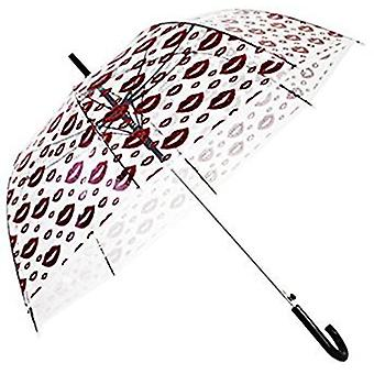 Straight Clear Umbrella (Petal Lips)