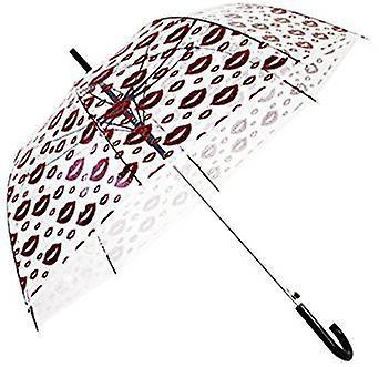 Straight Clear Umbrella (Petal Lips)