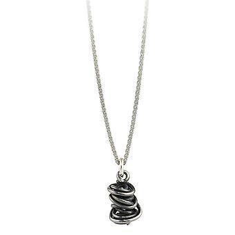 Ti2 Titan kaos släppa hänge och Silver Halsband - svart