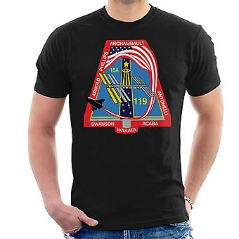 NASA STS 119 Raumfähre Discovery Mission Patch Herren T-Shirt