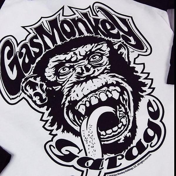 Gas Monkey Garage Mens Gas Monkey Garage 04 Baseball Long Sleeve T Shirt Grey