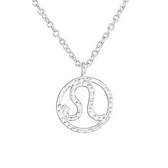 Leo Zodiac Sign - 925 Sterling Silver Plain Necklaces - W36711x
