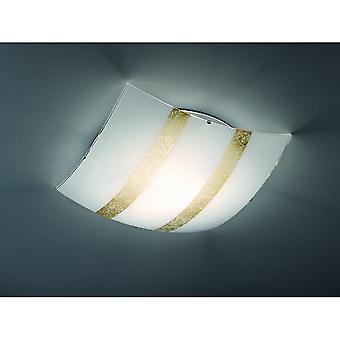 Trio belysning Nikosia Modern guld glas taklampa