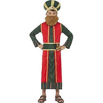 Traje de rey Gaspar, hombre sabio de Navidad natividad, medio edad 7-9