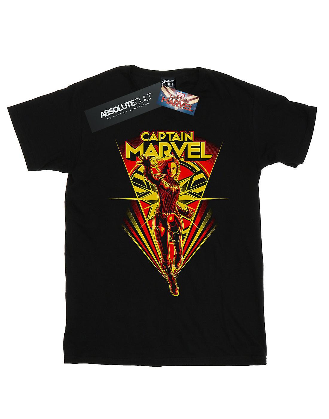 Marvel Men's Captain Marvel Flying V T-Shirt