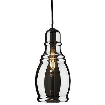 Ciondolo bottiglia Olsson cromo con vetro fumé - Searchlight 3604SM